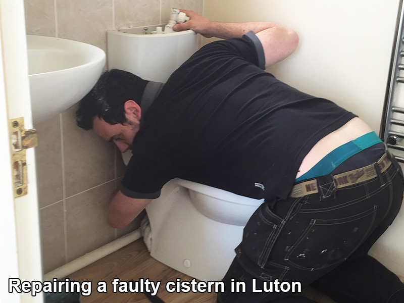 Repairing a faulty cistern in luton