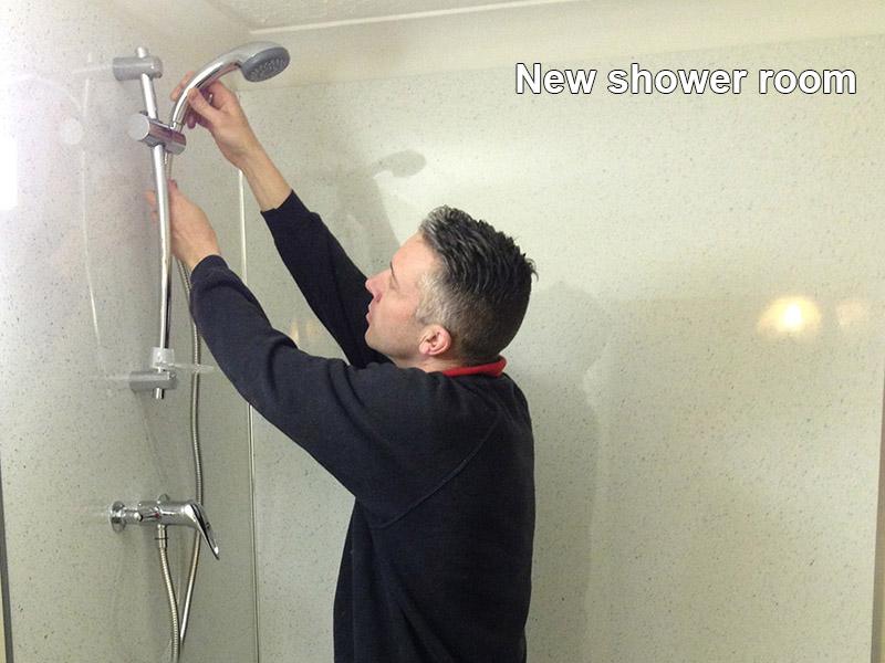 New shower room installation