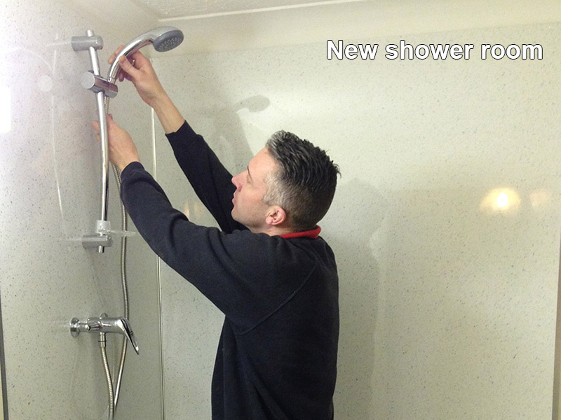 New shower room installation