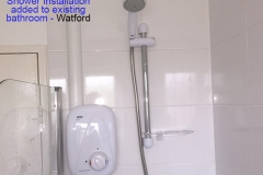 A shower installation Watford