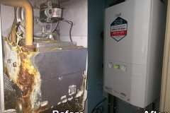 Corroded boilerBefore and after