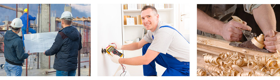 Other services - electricians and builders
