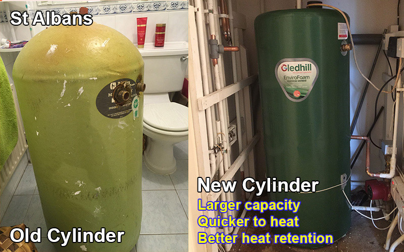 Water Cylinder replacement St Albans