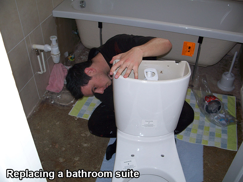 Fitting a new bathroom suite