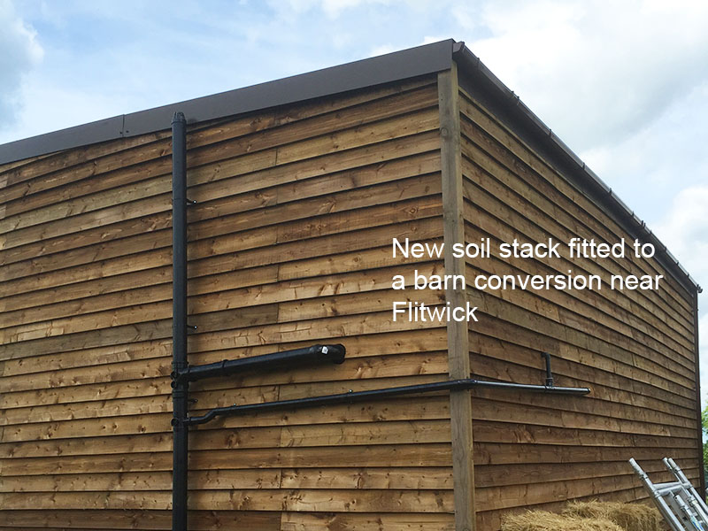 Soil stack installed in flitwick