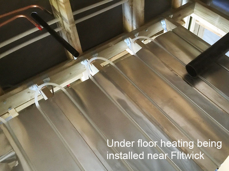 Underfloor heating in flitwick