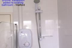 A shower installation Watford