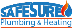 Safesure plumbing and heating logo.
